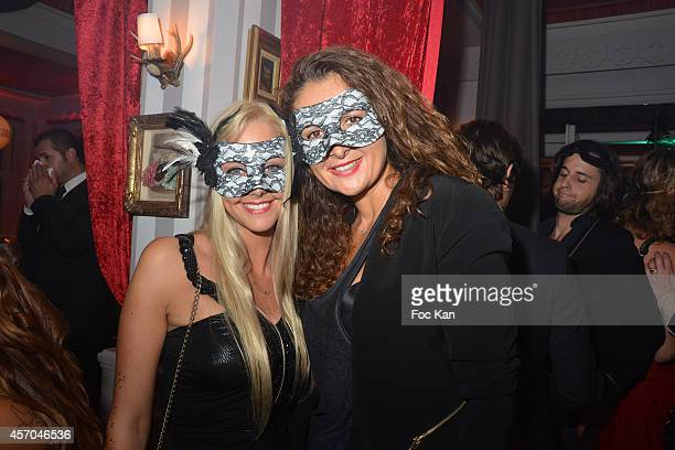 Actress Julie Nicolet and Vanessa attend the Marc Dorcel 35th Anniversary Masked Ball at the Chalet des Iles on October 10 2014 in Paris France