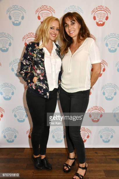 Actress Julie Nicolet and Writer Anna Veronique El Baze attend the Championnat de France de Barbe 2018 hosted by Beardilizer at Le Loft de la...