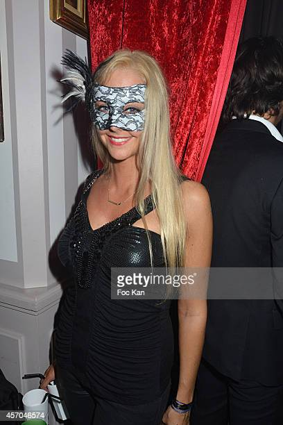 Actress Julie Nicolet attends the Marc Dorcel 35th Anniversary Masked Ball at the Chalet des Iles on October 10 2014 in Paris France