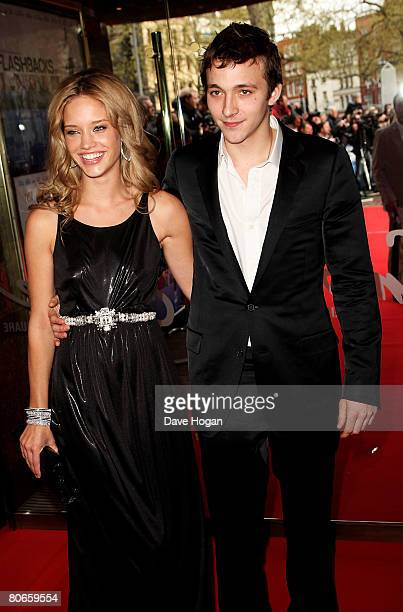 Actress Julie Ordon and guest Dexter arrive at the UK premiere of 'Flashbacks of a Fool' at the Empire cinema Leicester Square on April 13 2008 in...