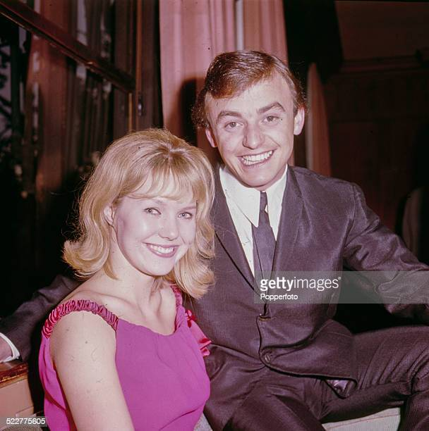 Actress Julie Samuels star of the film 'Ferry Cross the Mersey' posed with Gerry Marsden from the pop group Gerry and the Pacemakers in 1964