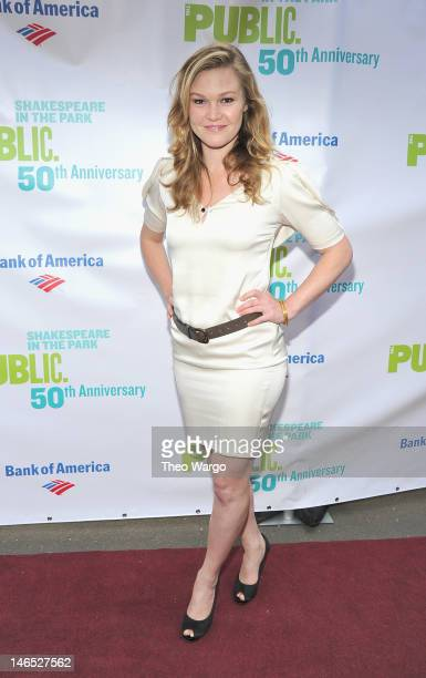 Actress Julie Stiles attends the Public Theater 50th Anniversary Gala at Delacorte Theater on June 18, 2012 in New York City.