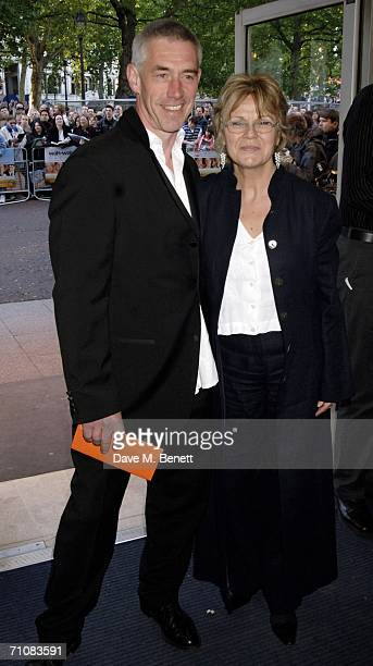 Actress Julie Walters and Grant Roffey arrive at the UK Premiere of 'Wah Wah' at Odeon West End Leicester Square on May 30 2006 in London England