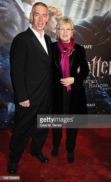 Actress Julie Walters and Grant Roffey attend the world premiere of Harry Potter And The Deathly Hallows Part 1 at Odeon Leicester Square on November...