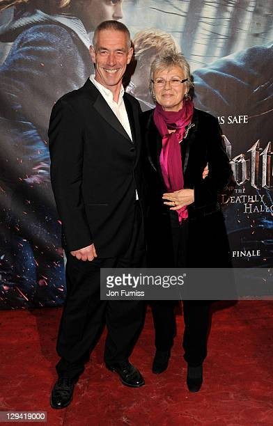 Actress Julie Walters and husband Grant Roffey attends the world premiere of Harry Potter and The Deathly Hallows at Odeon Leicester Square on...