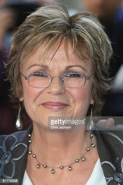 Actress Julie Walters arrives at the World Premiere of Mamma Mia The Movie at the Odeon Leicester Square on June 30 2008 in London England