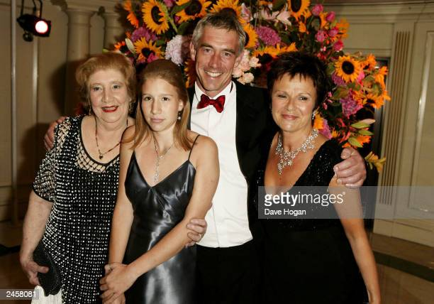 Actress Julie Walters husband Grant Roffey daughter Maisie and mother attend the party for the 'Calendar girls' Premiere at Grosvenor House Hotel on...