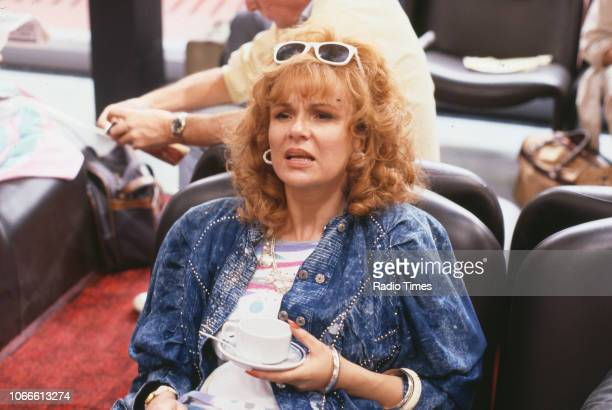 Actress Julie Walters in a scene from episode 'We'd Like to Apologise' of the BBC television series 'Victoria Wood' October 9th 1989