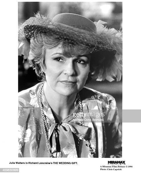 Actress Julie Walters on set of the movie The Wedding Gift circa 1994