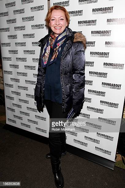 Actress Julie White attends the 'The Mystery Of Edwin Drood' Broadway Opening Night at Roundabout Theatre Company's Studio 54 on November 13 2012 in...