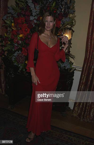 Actress Julienne Davis at a party thrown by designer Bruce Oldfield in aid of The Crimestoppers Trust held at Spencer House on 17th September 2002 in...