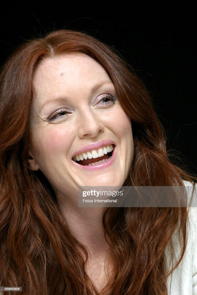 Actress Julienne Moore talks at the Regency Hotel on February 2, 2006 in New York, New York.