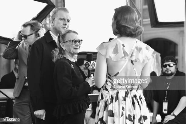 Actress Juliet Mills and host Alicia Malone attend The 50th Anniversary World Premiere Restoration of The Producers Opening Night Gala and Robert...