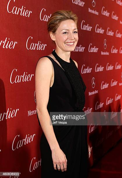 Actress Juliet Rylance arrives at the 25th annual Palm Springs International Film Festival awards gala at Palm Springs Convention Center on January 4...