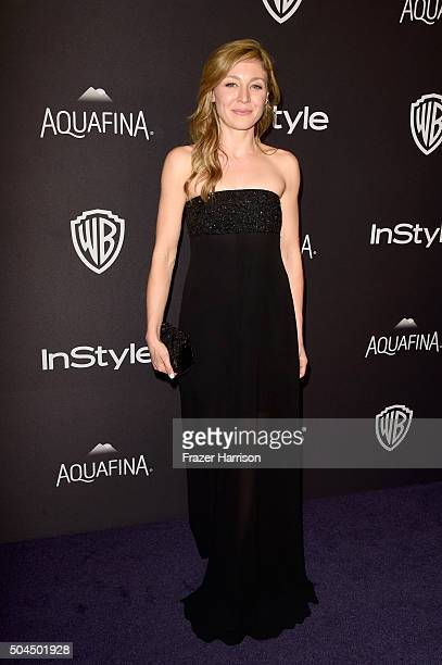 Actress Juliet Rylance attends InStyle and Warner Bros 73rd Annual Golden Globe Awards PostParty at The Beverly Hilton Hotel on January 10 2016 in...