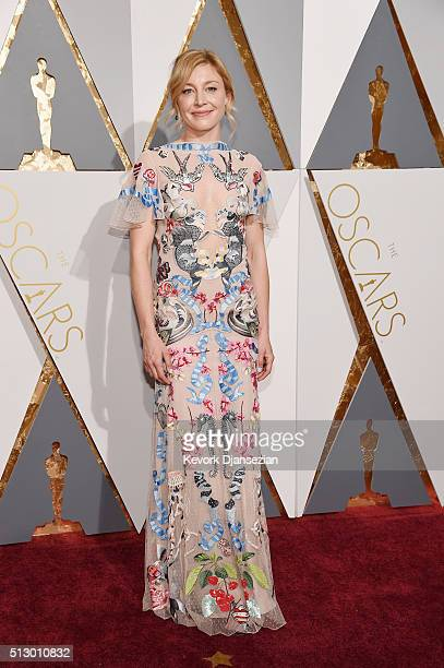 Actress Juliet Rylance attends the 88th Annual Academy Awards at Hollywood Highland Center on February 28 2016 in Hollywood California
