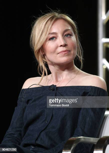 Actress Juliet Rylance of the television show McMafia speaks onstage during the AMC portion of the 2018 Winter Television Critics Association Press...