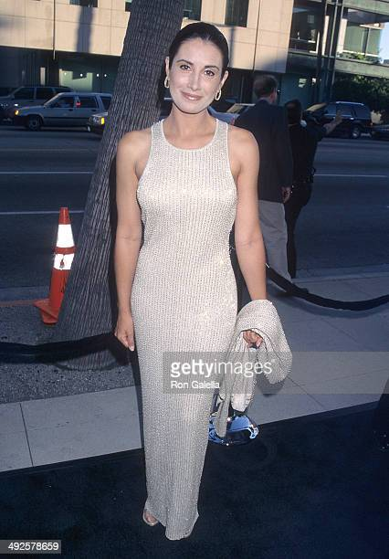 Actress Julieta Rosen attends The Mask of Zorro Beverly Hills Premiere on July 10 1998 at the Samuel Goldwyn Theatre in Beverly Hills California