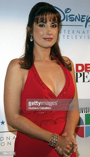 Actress Julieta Rosen poses at the launch party for Amas de Casa Desesperadas at Karu Y on January 8 2008 in Miami Florida