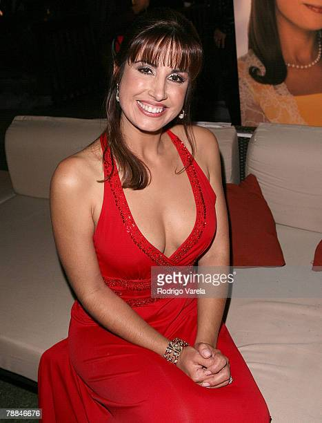 Actress Julieta Rosen poses during Univision's new soap opera 'Amas de Casa Desesperadas' launch party at Karu and Y January 8 2008 in Miami Florida