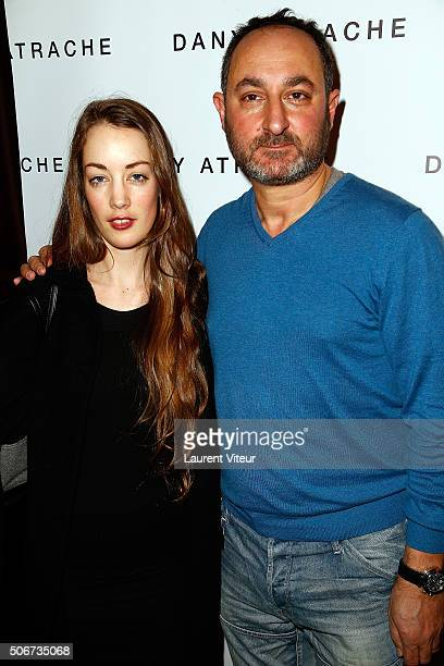 Actress Juliette Besson and Designer Dany Atrache attend the Dany Atrache Spring Summer 2016 show as part of Paris Fashion Week on January 25 2016 in...