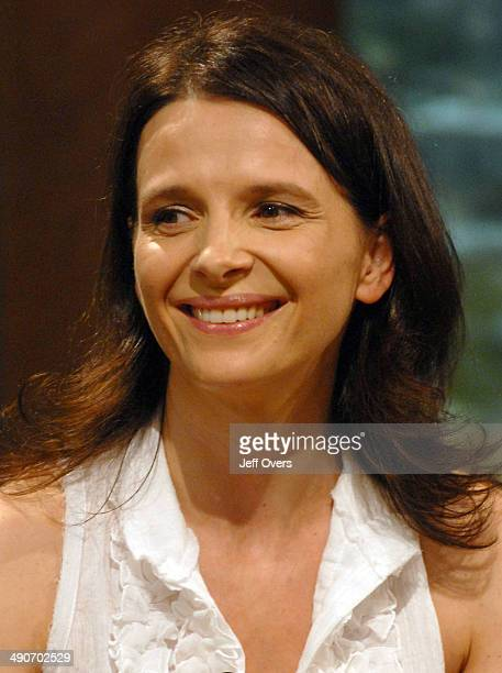 Actress Juliette Binoche appearing on The Andrew Marr Show