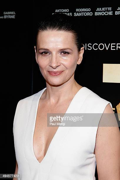 Actress Juliette Binoche attends 'The 33' Washington DC Premiere at The Newseum on October 27 2015 in Washington DC
