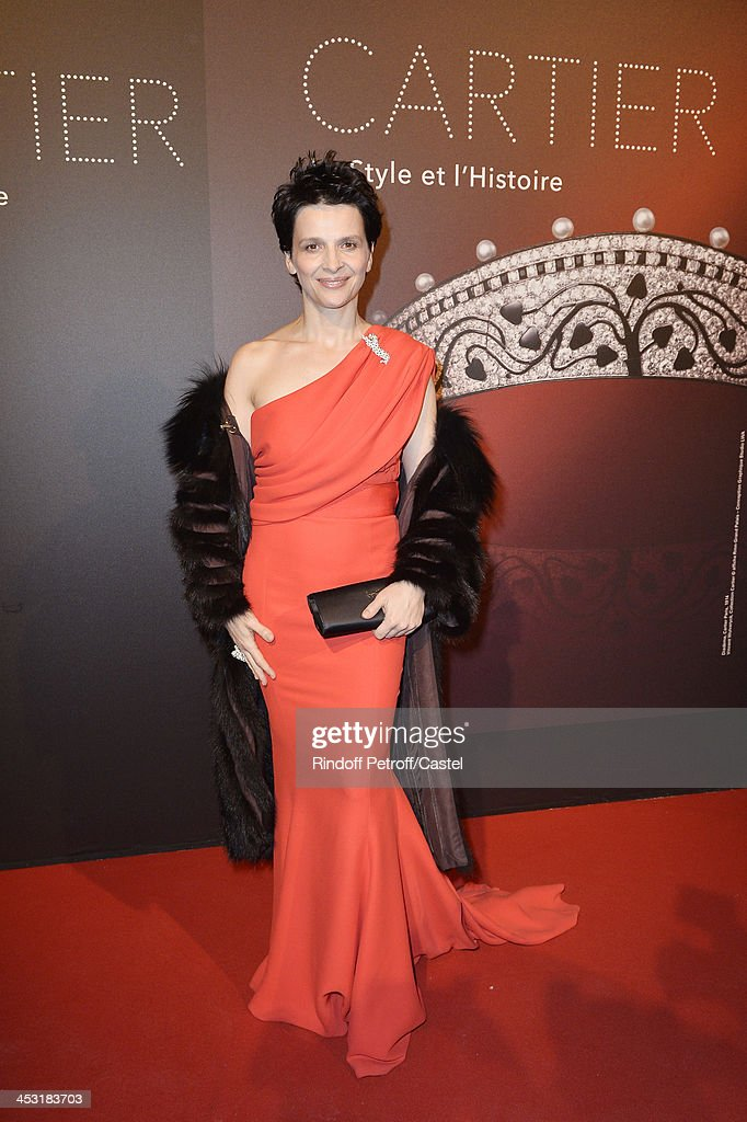 Actress Juliette Binoche attends the 'Cartier: Le Style et L'Histoire' Exhibition Private Opening at Le Grand Palais on December 2, 2013 in Paris, France.