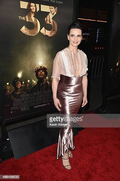 """Actress Juliette Binoche attends the Centerpiece Gala Premiere of Alcon Entertainment's """"The 33"""" during AFI FEST 2015 presented by Audi at TCL..."""