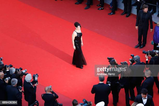 Actress Juliette Binoche attends the Closing Ceremony of the 70th annual Cannes Film Festival at Palais des Festivals on May 28 2017 in Cannes France