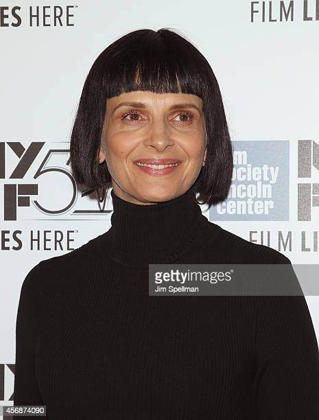 Actress Juliette Binoche attends the 'Clouds Of Sils Maria' 'Merchants Of Doubt' 'Silvered Water' screenings during the 52nd New York Film Festival...