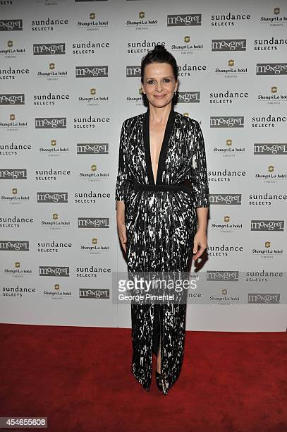 Actress Juliette Binoche attends the 'Clouds Of Sils Maria' party during the 2014 Toronto International Film Festival at ShangriLa Hotel on September...