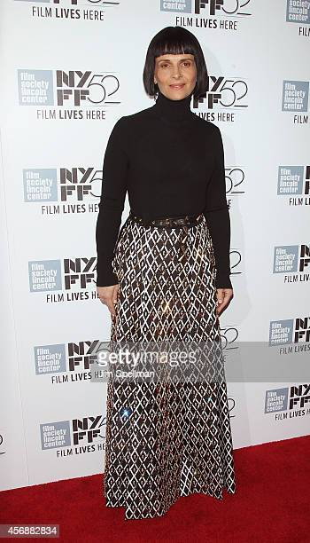 Actress Juliette Binoche attends the Clouds Of Sils Maria premiere during the 52nd New York Film Festival at Alice Tully Hall on October 8 2014 in...