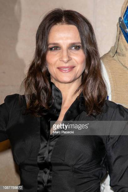 Actress Juliette Binoche attends the 'High Life' Premiere at Cinematheque Francaise on November 5, 2018 in Paris, France.