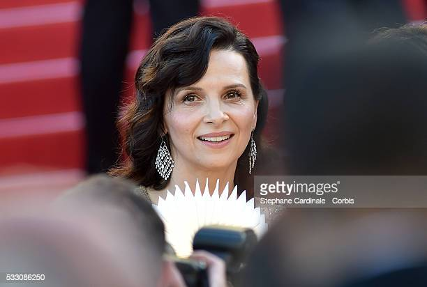 Actress Juliette Binoche attends 'The Last Face' Premiere during the 69th annual Cannes Film Festival at the Palais des Festivals on May 20 2016 in...