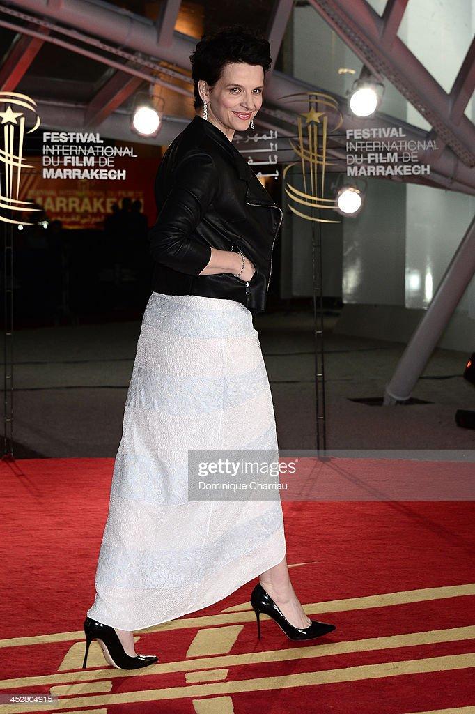 Actress Juliette Binoche attends the 'Like Father, Like Son' premiere during the 13th Marrakech International Film Festival on December 1, 2013 in Marrakech, Morocco.