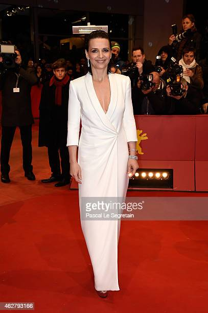 Actress Juliette Binoche attends the 'Nobody Wants the Night' Opening Night premiere during the 65th Berlinale International Film Festival at...