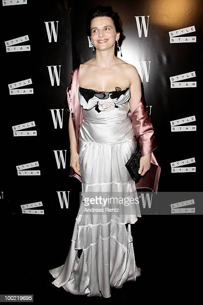 Actress Juliette Binoche attends the Style Star Night Party at Carlton Beach during the 63rd Annual Cannes Film Festival on May 21 2010 in Cannes...