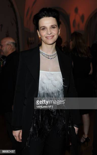 Actress Juliette Binoche attends the Vanity Fair and Gucci Party Honoring Martin Scorsese during the 63rd Annual Cannes Film Festival at the Hotel Du...