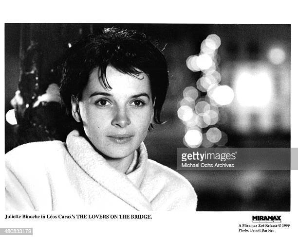 Actress Juliette Binoche in a scene from the Miramax movie The Lovers on the Bridge circa 1991 Miramax rerelease in 1999