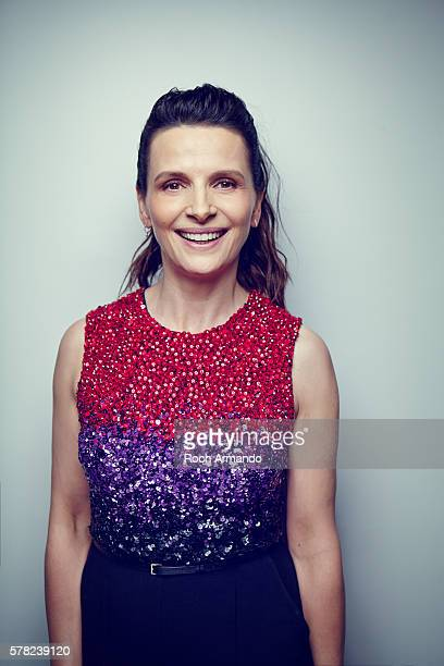 Actress Juliette Binoche is photographed for Self Assignment on June 21 2015 in Cabourg France
