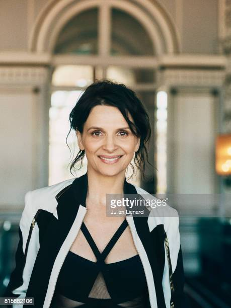 Actress Juliette Binoche is photographed for Self Assignment on June 16 2017 in Cabourg France