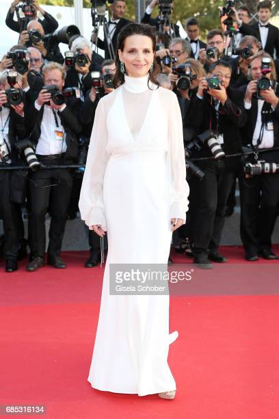 Actress Juliette Binoche of 'Let the Sunshine In' attends the Okja screening during the 70th annual Cannes Film Festival at Palais des Festivals on...