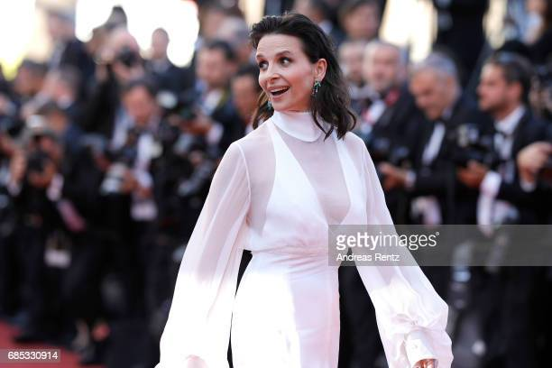 """Actress Juliette Binoche of 'Let the Sunshine In' attends the """"Okja"""" screening during the 70th annual Cannes Film Festival at Palais des Festivals on..."""