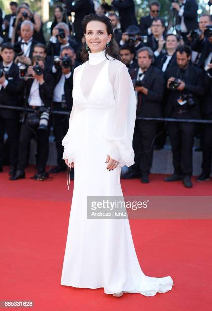 Actress Juliette Binoche of 'Let the Sunshine In' attends the 'Okja' screening during the 70th annual Cannes Film Festival at Palais des Festivals on...