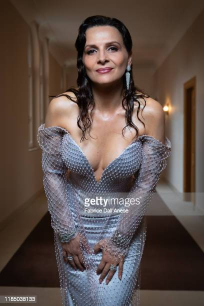 Actress Juliette Binoche poses for a portrait on August 28 2019 in Venice Italy