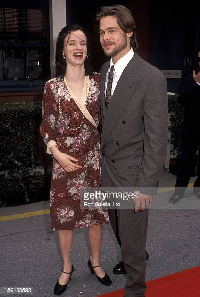 Actress Juliette Lewis and actor Brad Pitt attend the Seventh Annual IFP/West Independent Spirit Awards on March 28 1992 at Raleigh Studios in...