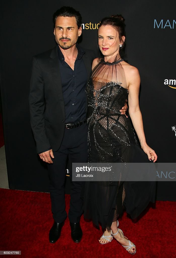 Actress Juliette Lewis and Brad Wilk attend the premiere of Amazon Studios' 'Manchester By The Sea' on November 14, 2016 in Beverly Hills, California.