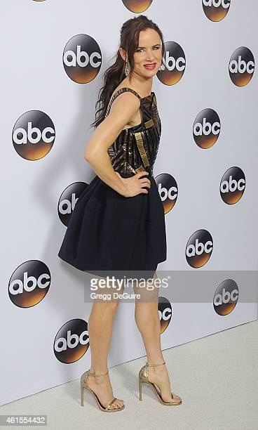 Actress Juliette Lewis arrives at Disney ABC Television Group's TCA Winter Press Tour on January 14 2015 in Pasadena California