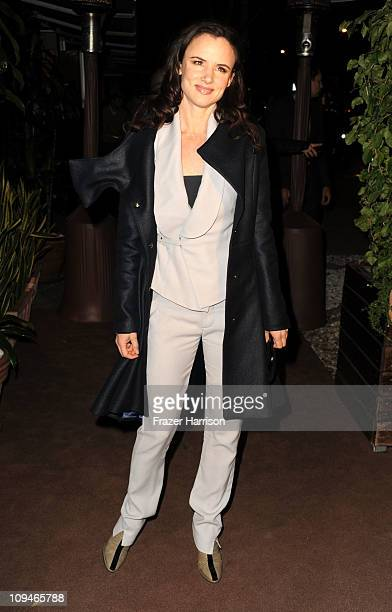 Actress Juliette Lewis arrives at the Chanel and Charles Finch Pre-Oscar Dinner at Madeo Restaurant on February 26, 2011 in Los Angeles, California.